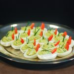 Paleo Basil, Avocado, Bacon Deviled Eggs (aka Green Eggs and Ham) - www.ThePrimalDesire.com