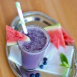 Paleo Blueberry Watermelon Mint Smoothie - www.ThePrimalDesire.com