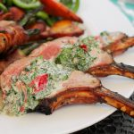Paleo grilled lamb in a creamy chilled mint sauce, great for a summers day.