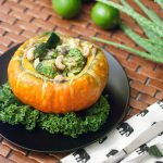 I love Thai curries, and the Thai Green Green Curry in Turban Squash is beautiful, comforting, and seasonal http://wp.me/p4Aygm-1uN