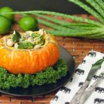Thai Green Green Curry in Red Turban Squash - www.ThePrimalDesire.com
