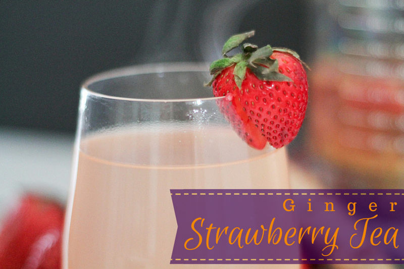 Ginger Strawberry Tea -Ginger strawberry tea, is flavourful and restorative. Hot or iced it might be your new favorite beverage! www.ThePrimalDesire.com