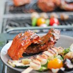 Tangy with a hint of heat, this Rhubarb Habenero Paleo BBQ Sauce is great on ribs, or wings, or from a spoon out of the jar! www.ThePrimalDesire.com