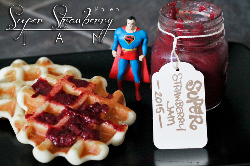 Super Paleo Strawberry Jam is sugar free, so simple, and delicious! Great with a little ice cream, on paleo waffles or pancakes. Enjoy the flavor of sweet strawberries without all the added crap! http://wp.me/p4Aygm-1IX