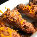 Smoky chili with a rich chocolate orange dusting make these paleo Orange Chocolate Chili Chicken Wings a hit at any gathering - including Super Bowl Sunday! https://www.theprimaldesire.com/Orange-Chocolate-Chili-Chicken-Wings