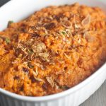 Smokey Mashed Sweet Potatoes get their smokey and spicy flavors from smoked salmon and chipotle peppers. http://wp.me/p4Aygm-1Yy