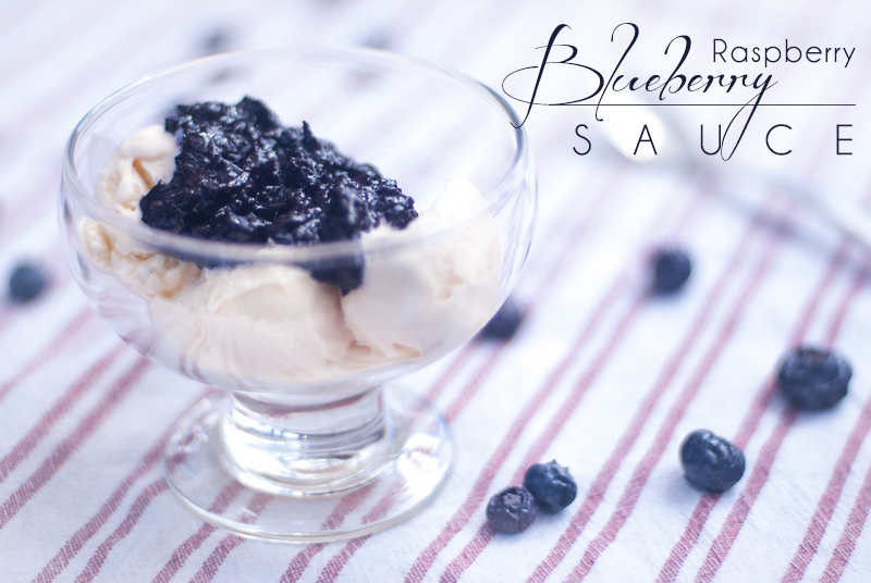 Blueberry Raspberry Sauce for Chicken, Pork, Ice Cream, etc - This Blueberry Raspberry Sauce is good on ALL OF THE THINGS, such as chicken, pork, ice cream, baked brie, turkey, waffles, etc. https://www.theprimaldesire.com/blueberry-raspberry-sauce-for-chicken-pork-ice-cream-etc