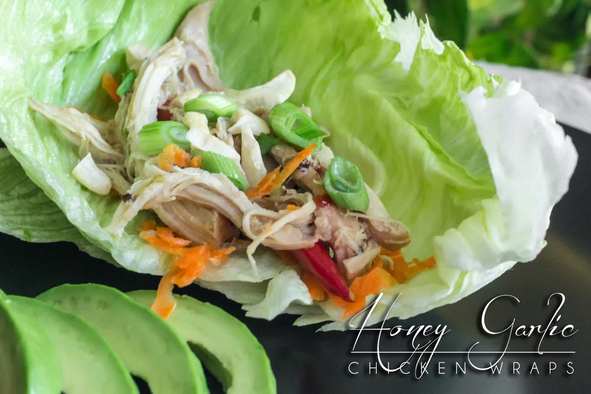 Crisp lettuce & raw veggies provide a satisfying crunch balancing the sweet & savory fermented honey garlic chicken http://wp.me/p4Aygm-26M