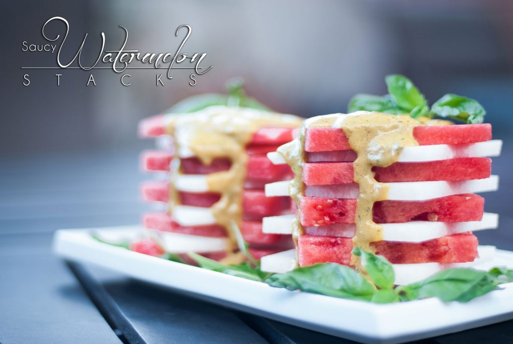 Saucy Watermelon Stack