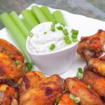 Blue Cheese Yogurt Dressing with Actual Probiotic Yogurt with Buffalo wings