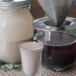 Coconut dairy free Irish creamer shot and drip coffee.