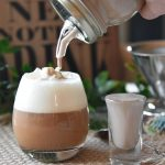 Coconut dairy-free Irish creamer shot and coconut whip cream.