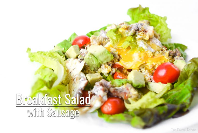 Breakfast Salad with Sausage title