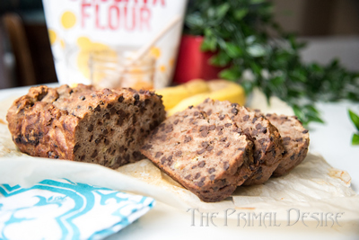 World's Best Gluten-free Banana Bread sliced
