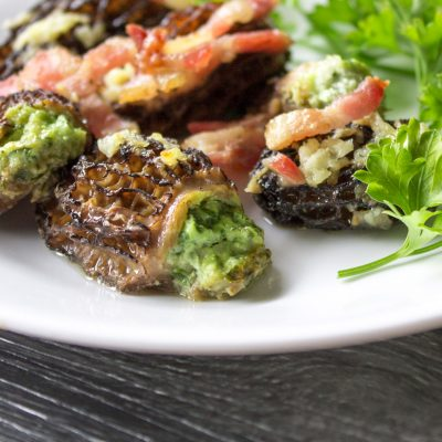 Stuffed Morel Mushrooms