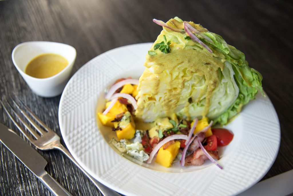 Creamy Curry Fenugreek Mango Tropical Wedge Salad