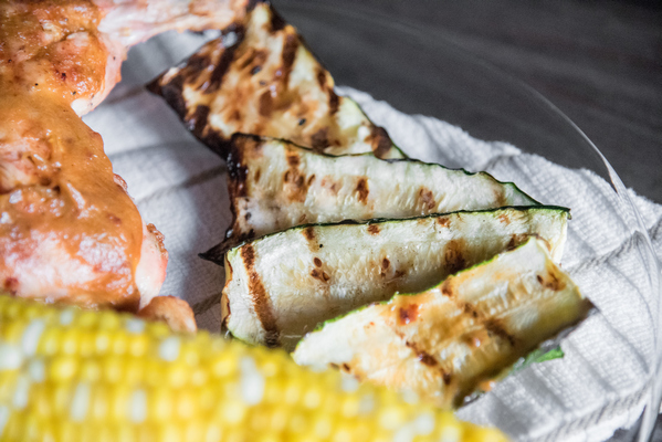 Grilled Zucchini with Rhubarb Glaze is such an easy way to add another dimension to zucchini. Sure, grilled zucchini with a little garlic and S&P is amazing as it is, but the added sweet freshness will be a pleasant surprise for your taste buds.