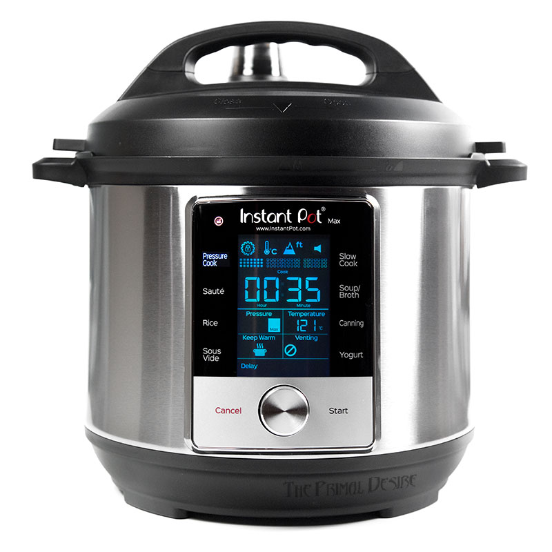 What the Instant Pot Max front face looks like.