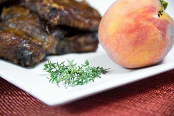 Peach Thyme Instant PotRibs use sweet peaches& spicy thyme make this grilling sauce AIP friendly an easy way to use up those end-of-season peaches.