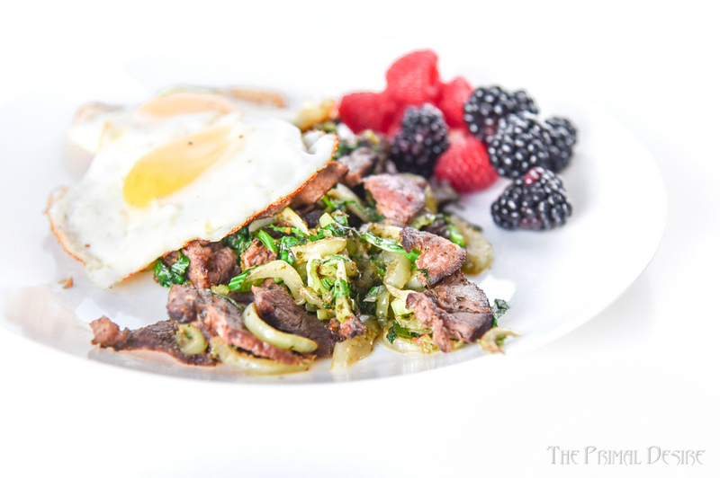 Start your day off strong with a wakeup call for your taste buds from Pesto Steak and Eggs.  Keto breakfast in under 7 minutes!
