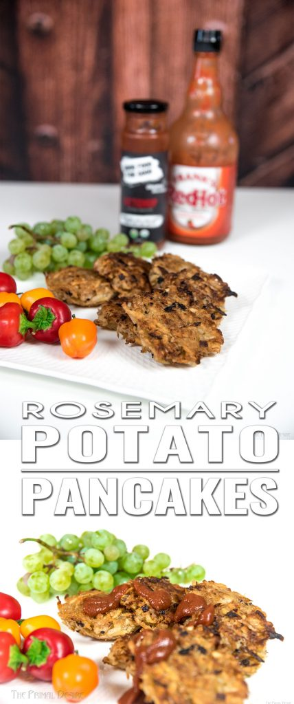 Crispy potato-y goodness! If you're like Raj, you just can't get enough of these Rosemary Potato Pancakes. Breakfast, lunch, and dinner...