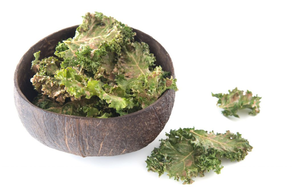 Almond Butter Satay Kale Chips. Yummy and easy.
