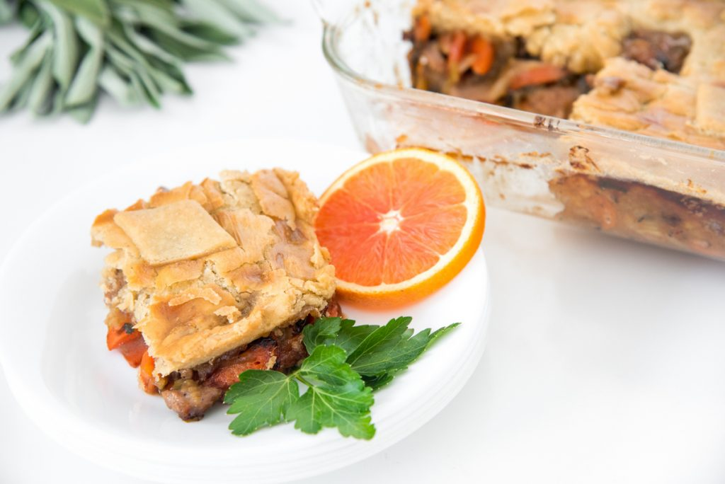 This Flaky Paleo Duck Pot pie is a flavor bomb twist on the traditional chicken recipe. You'll love this flaky gluten free pie pastry!