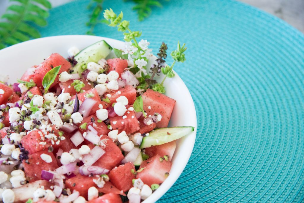 Primal Cucumber Watermelon Salad is a refreshing salad that will keep you cool on the hottest days. Designed as a pitta-balancing salad!