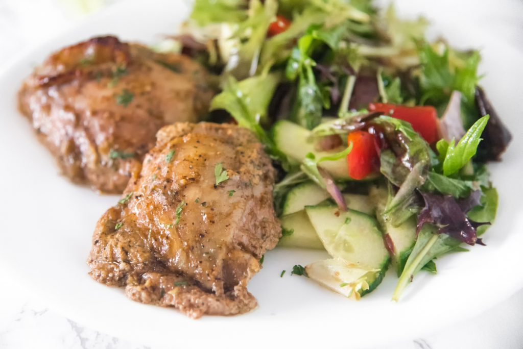 This Sumac Yogurt Marinated Chicken recipe brings a lot of flavor to Keto Chicken Thighs. These baked Mediterranean chicken thighs are a flavor explosion!