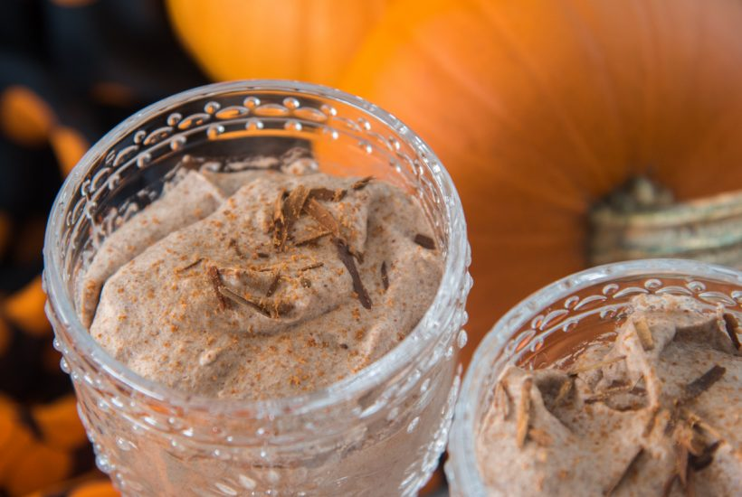 Pumpkin Chocolate Mousse takes an already great, low-sugar chocolate mousse and skyrockets it into fall flavor bliss all up in your mouth.